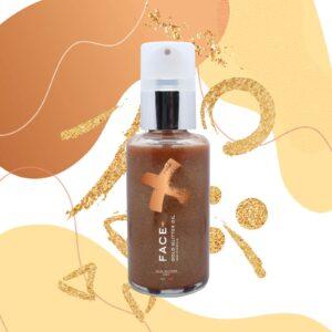 Facepiù – Gold Glitter Oil