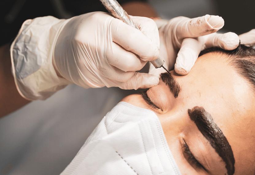 Centro Estetico, trattamento di trucco permanente sopracciglia